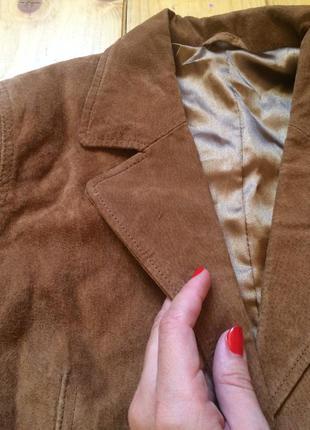 Замшевий пиджак куртка натуральний замш