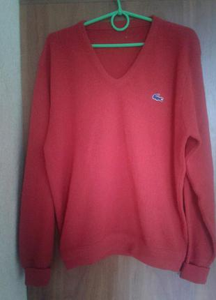 Красный свитер lacoste