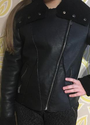 Кожаная курточка new look