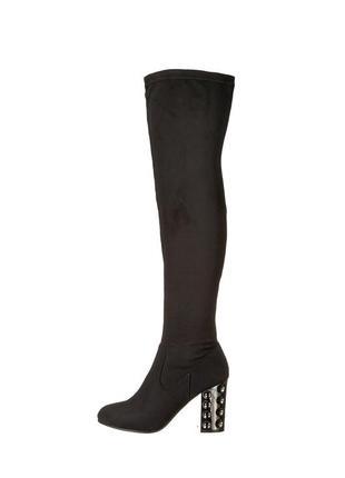 Carlos santana сапоги чулки замшевые ботфорты черные бренд оригинал из сша