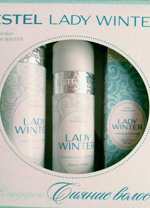 Estel lady winter набор для волос (шампунь, маска-бальзам, спрей)