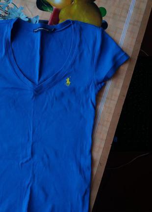 Оригинальная футболка с вырезом ralph lauren