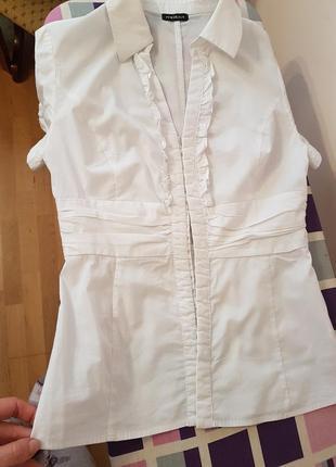 Блузка с коротким рукавом, приталенная