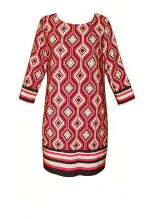 Платье туника геометрический принт 3/4 рукав