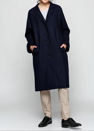 Шерстяное (100%) пальто cos