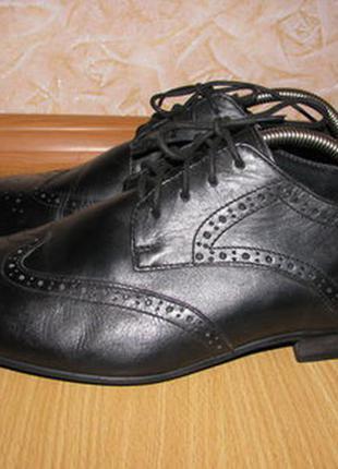 Office london туфли броги оксфорды кожаные 44 р по ст 28.5 см супер состояние