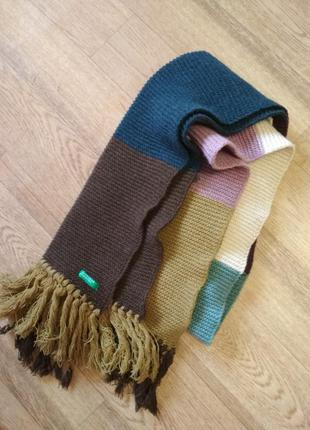 Длинный шарф разноцветный