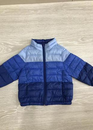 Деми куртка пуховик для мальчика benetton, 80-86 см