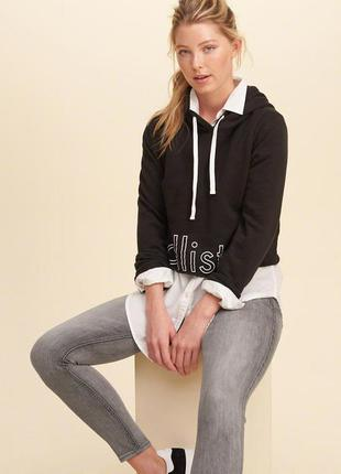 Hollister xs оригинал xxs джинсы w 24 25 холлистер штаны coolmax серые скинни лосины