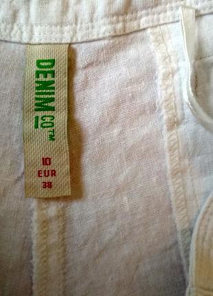 Белые льняные шорты3