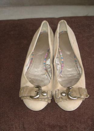 Туфли балетки лодочки кожа