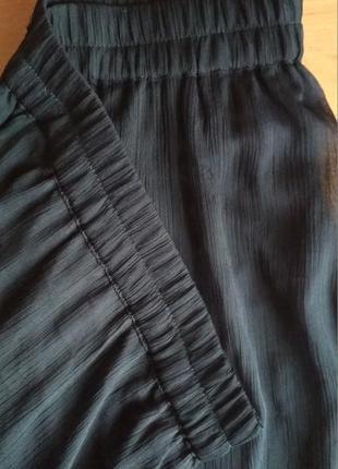 Легкая юбка, разрезы, до пола, летняя, шифон