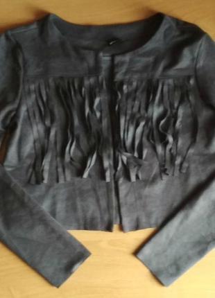 Новое болеро, пиджак, накидка, бахрома, замша