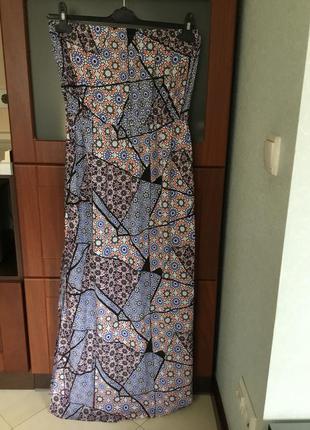 Чудное летнее платье-бюстье впол размер 14- 16