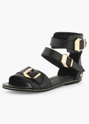 Р.36 франция kookai, натуральная кожа! шикарные элегантные комфортные босоножки сандалии