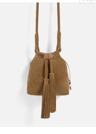 Земшевая сумка-мешок zara