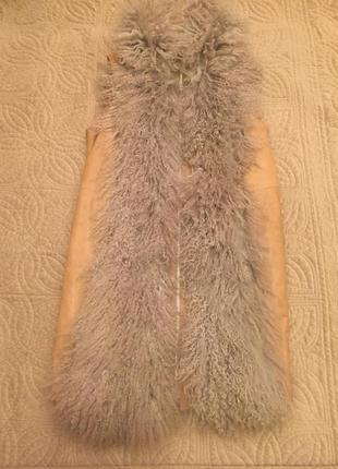 Escada sport-натуральный жилет с мехом ламы