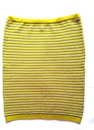 Яркая трикотажная юбка карандаш, бренд topshop