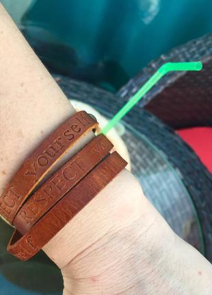 Длинный кожаный браслет в стиле hermes из коллекции итальянских браслетов