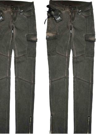 Eighth sin италия джинсы брюки с накладными карманами и замочками внизу рxs-m