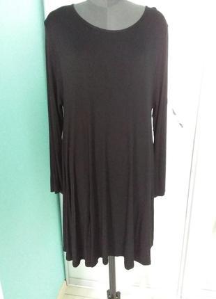 Удлиненный джемпер (короткое платье) большого размера