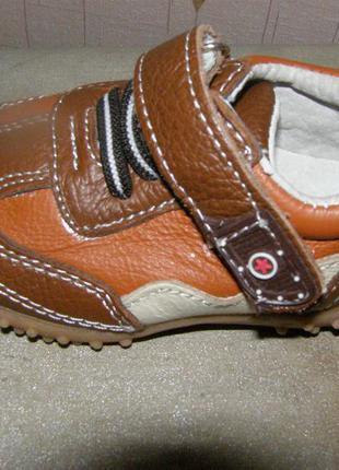 Новые мокасины кроссовки ботиночки mxm кожа 20р.