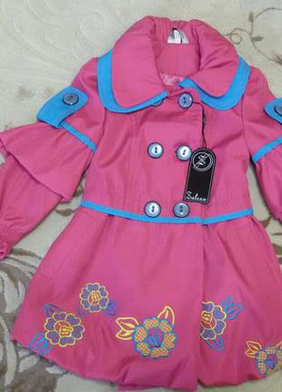 Детский плащ для девочки демисезон  zalexa 3-4 года