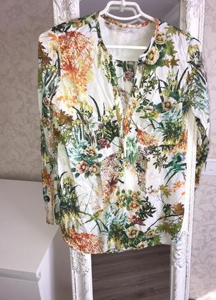 Рубашка zara цветная