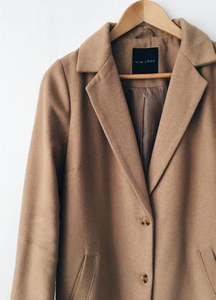 Пальто oversize, onesize, бойфренд , кокон, camel , m