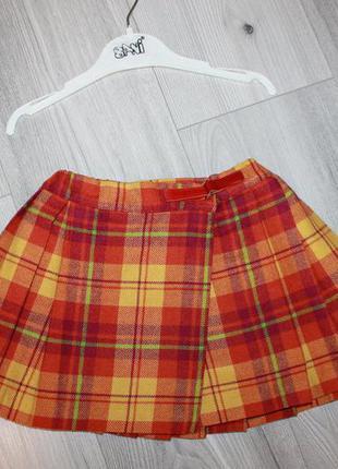 Юбка-шотландка enrico coveri оригинал 3-4 г