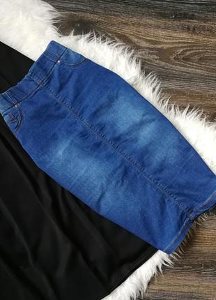 Голубая джинсовая юбка-карандаш в153833 papaya размер uk8 (s)