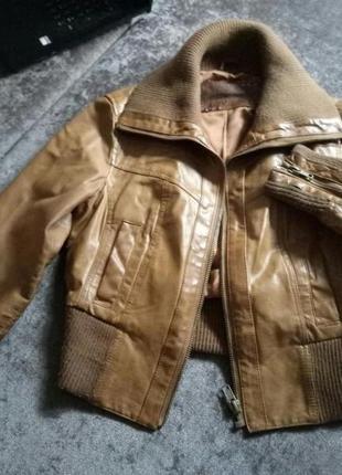 Кожанная куртка пилот.