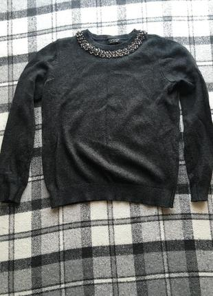 Серый мягкий свитер topshop