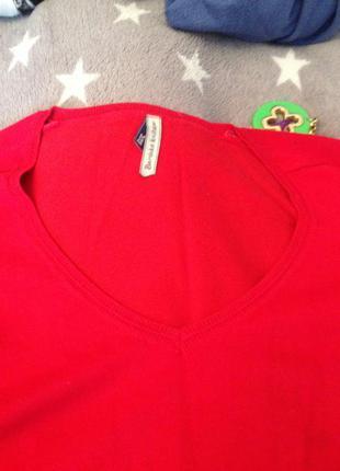 Базовый джемпер красного цвета bershka