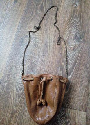 Классный кожаный клатч, маленькая сумочка на цепочке