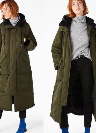 Пальто на синтепоне от шведского бренда monki, s/m