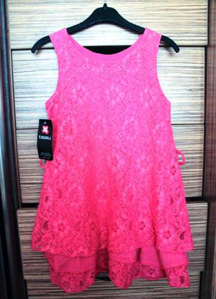 Новое хлопковое кружевное платье, сарафан tissu