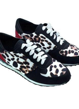 Кроссовки с трендовым тигровым принтом