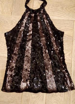 Блуза с английской проймой, расшитая пайетками, vero moda