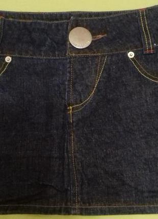 Юбка джинсовая короткая miss posh размер м
