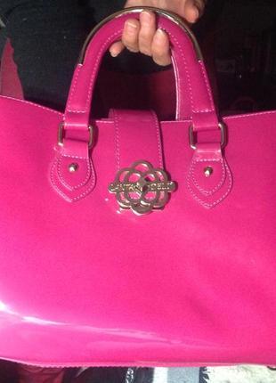 Лаковая сумка lantadeli paris сумка