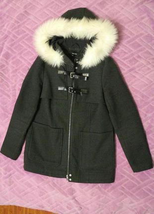 Пальто средняя длинна casual кэжуал весна осень женское 36 размер мода tally weijl