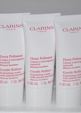 Отшелушивающий крем с микрогранулами clarins gentle refiner exfoliating