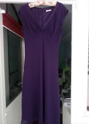 Шикарное платье из плотного шифона