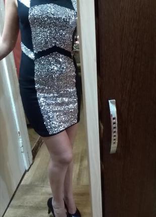 Блестящее платье от tally weijl