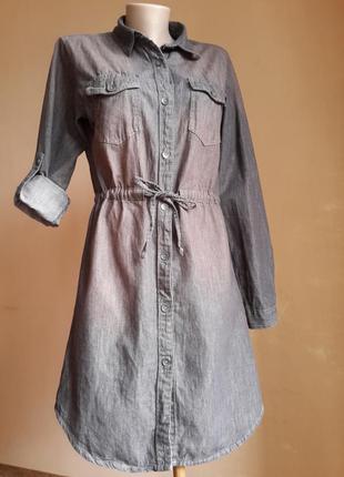 Джинсовое платье хлопок bershka испания