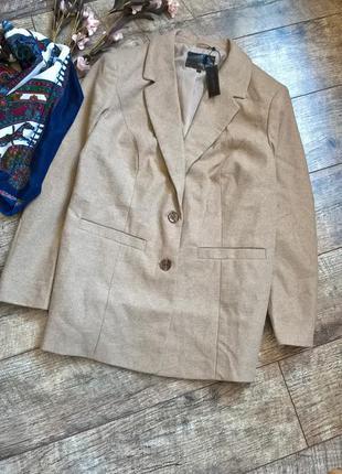 Новый теплый блейзер/полупальто/пиджак от bonprix в цвете беж/кемел