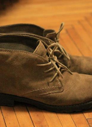 Демисезонные замшевые ботинки 5th avenue