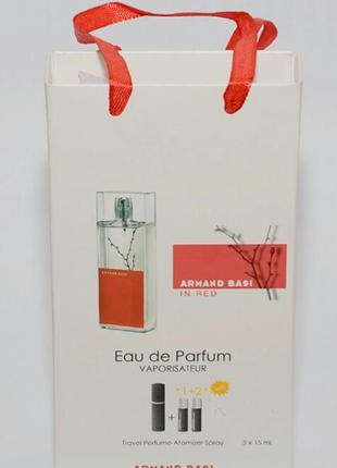 Женский подарочный набор 3*15 мл armand basi in red (арманд баси ин ред)