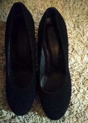 Женские туфли натур.замш